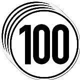 Aufkleber Sticker 100 kmh km/h 20cm Schild Geschwindigkeit für Schlepper Zugmaschine Multicar Anhänger Fahrzeug LKW Bus (4)